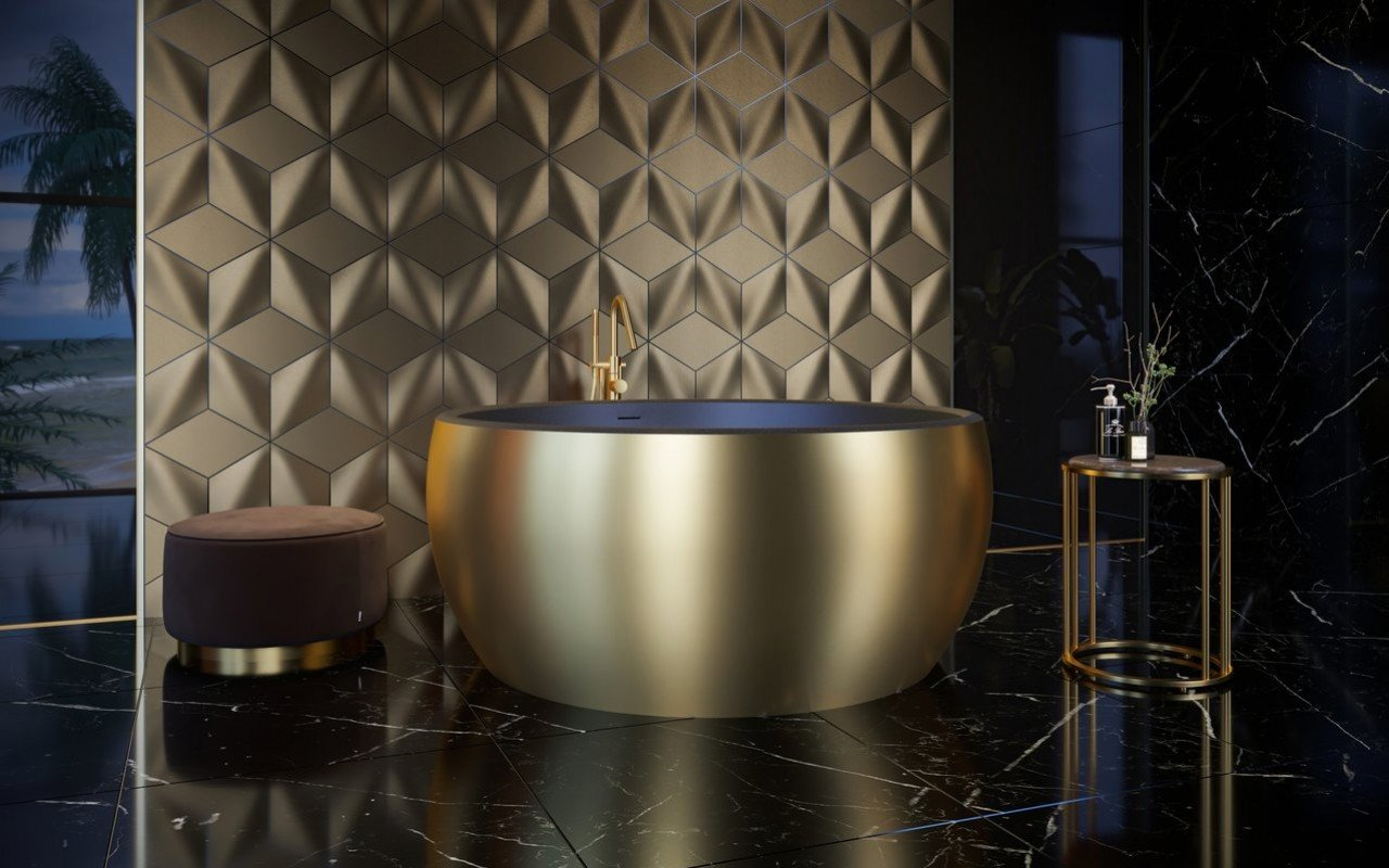 Aquatica Aura Gold Black Round Freestanding Solid Surface Bathtub 01 (web)