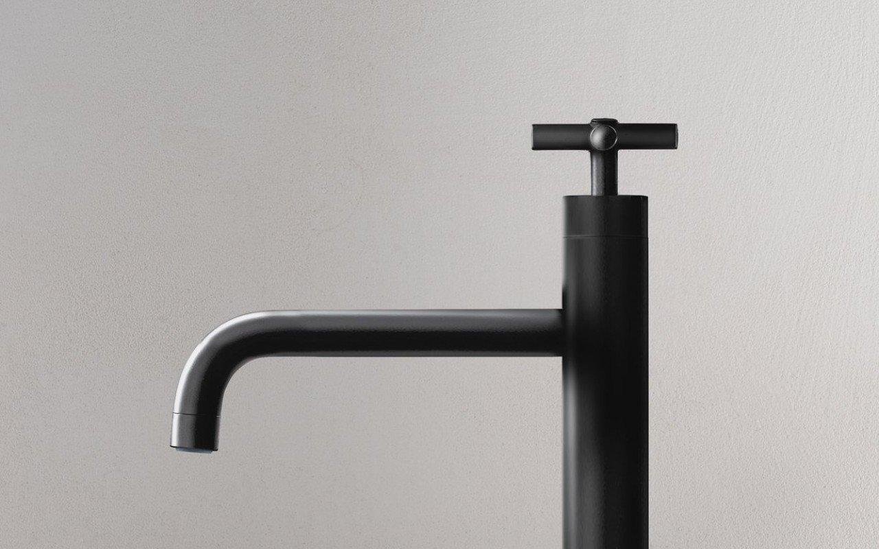 Aquatica Celine 10 Sink Faucet (SKU 222) Black 02 (web)