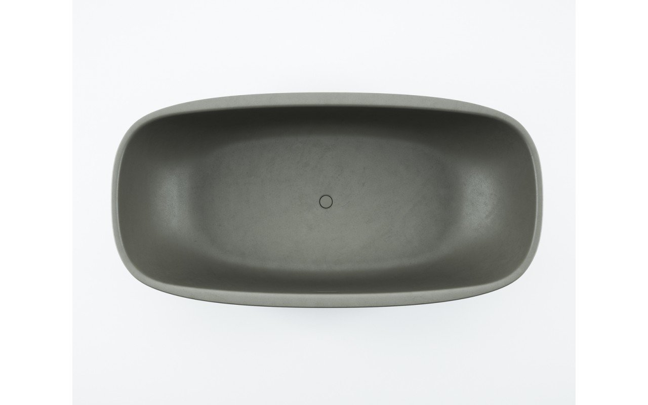 Coletta Concrete Freestanding Solid Surface Bathtub 02