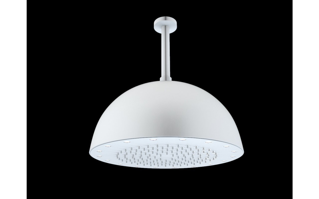Dynamo Dynamic LED Round Shower Head White Matte(main)