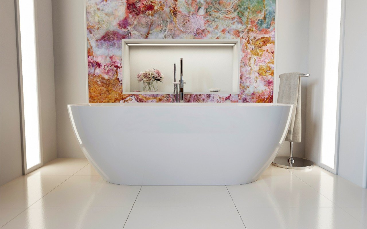 Gloria Wht Freestanding Acrylic Bathtub 1 web