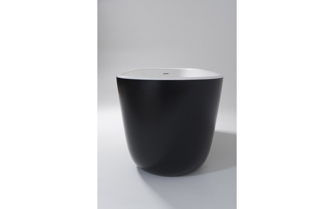 Lullaby Mini Blck Wht Freestanding Solid Surface Bathtub by Aquatica web (2)