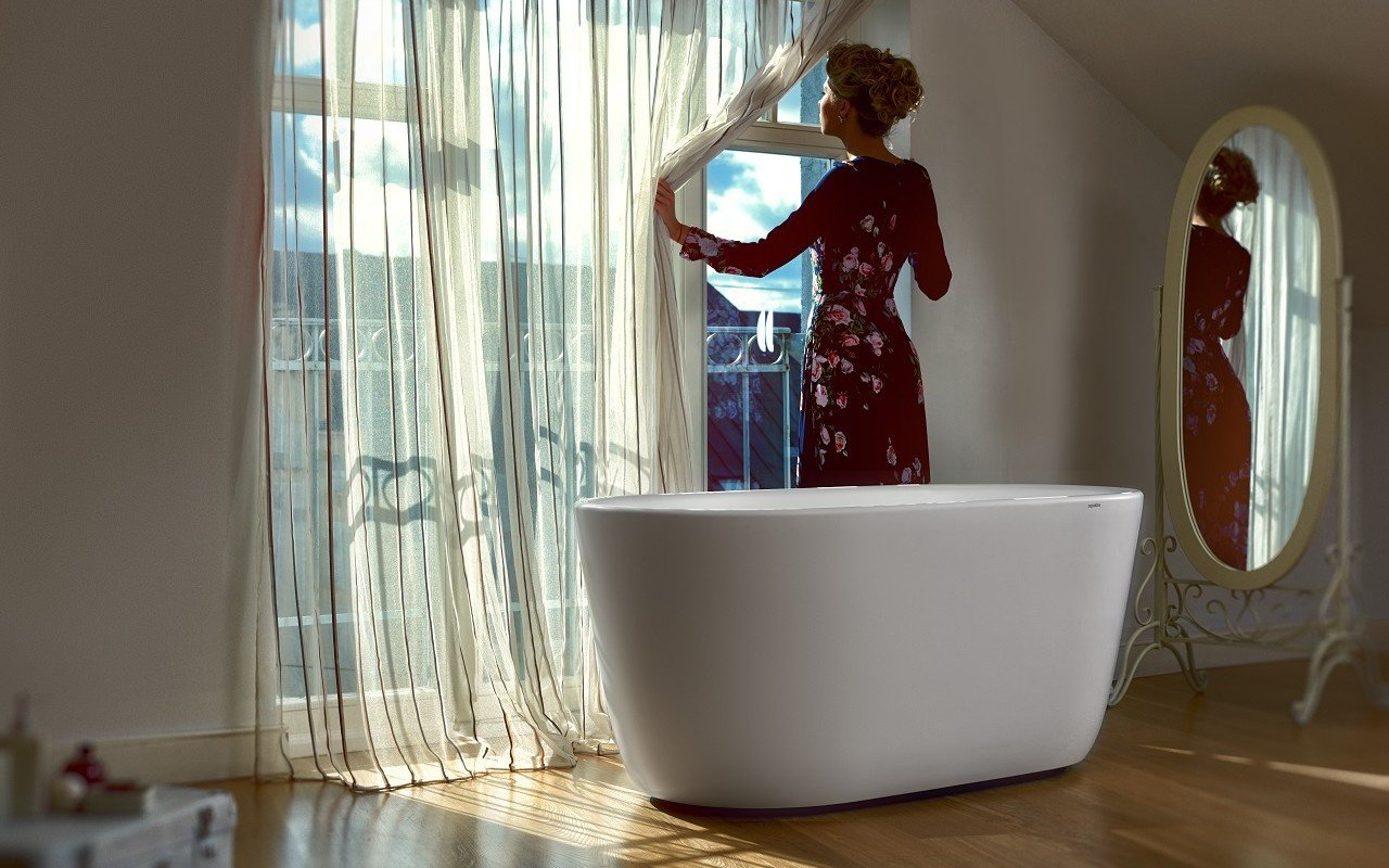 Lullaby Wht Small Freestanding Solid Surface Bathtub by Aquatica web 11