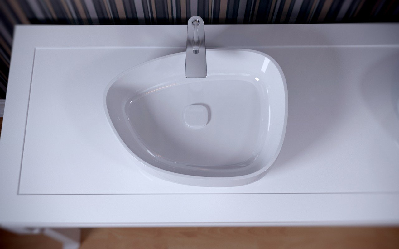 Metamorfosi Wht Shapeless Ceramic Bathroom Vessel Sink (3)