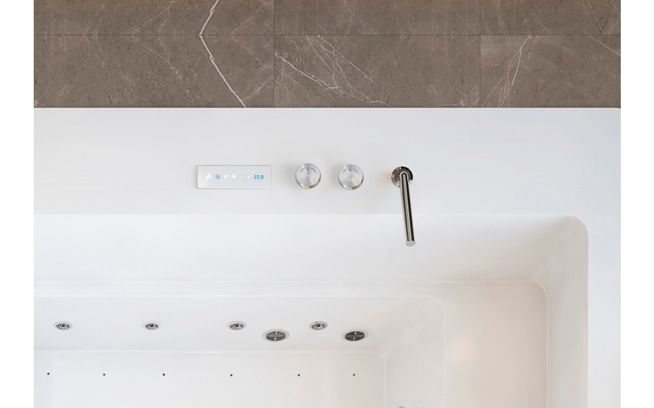 Multiplex e duo electronic bath filler with thermostatic valve and hand shower 03 (web)