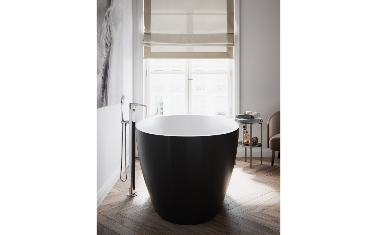Sensuality Back wht freestanding oval solid surface bathtub by Aquatica (4) Copy