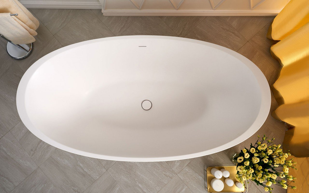 Sensuality wht freestanding oval solid surface bathtub by Aquatica 06 04 16––11 15 02 WEB