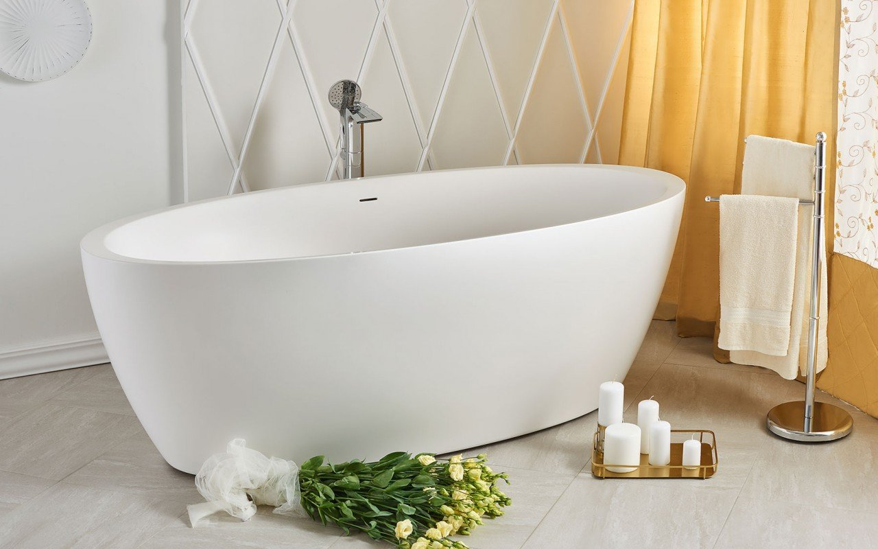 Sensuality wht freestanding oval solid surface bathtub by Aquatica 06 04 16––14 07 31 WEB
