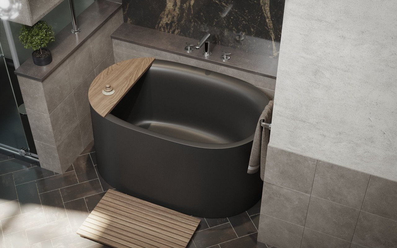 Sophia Black freestanding stone bathtub by Aquatica 02 (web)