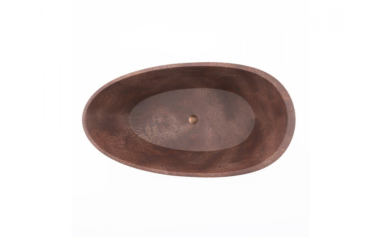 Spoon 2 Egg Shaped Bronze Solid Surface Bathtub