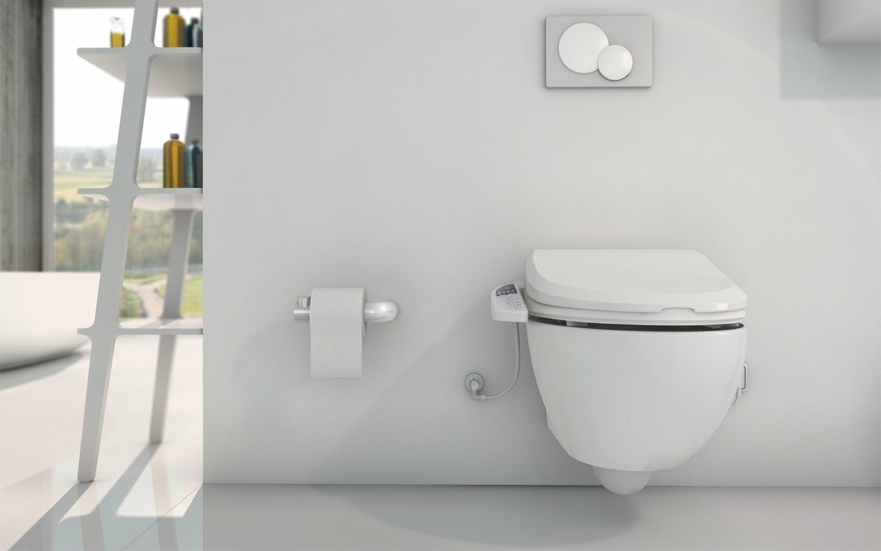 USPA Velis Wall Hung Toilet and 7235 Comfort Bidet Seat (2) (web)