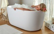 Lullaby Wht Small Freestanding Solid Surface Bathtub by Aquatica web 0279