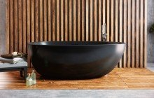 Spoon 2 Black Freestanding Solid Surface Bathtub web (3)