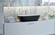 Black And White Vessel Sink picture № 1