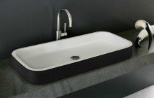 Black And White Vessel Sink picture № 7