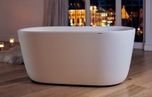 Lullaby Wht Small Freestanding Solid Surface Bathtub by Aquatica web 1