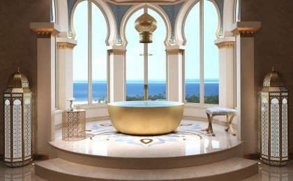 Aquatica adelina yellow gold wht round freestanding solid surface bathtub 02 (web)