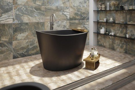 Aquatica True Ofuro Black Tranquility Heated Japanese Bathtub 02