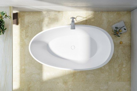 Spoon 2 Freestanding Solid Surface Bathtub by Aquatica 04
