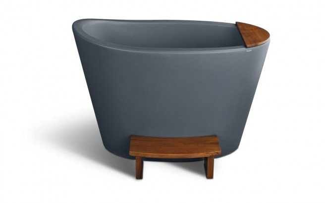 Aquatica True Ofuro Concrete Pro Freestanding Stone Japanese Soaking Bathtub 02 (web)