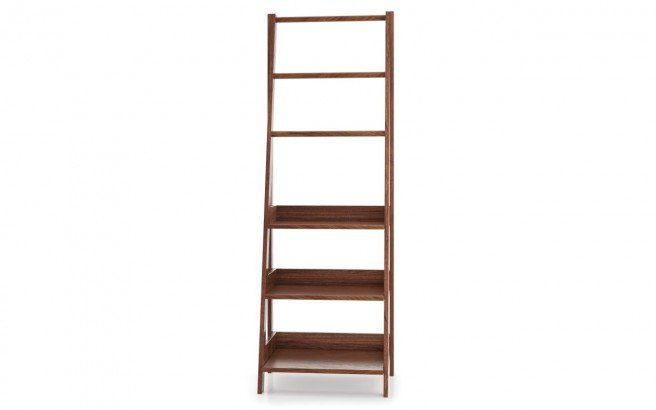 Universal Waterproof Bathroom Ladder Shelf American Walnut04web