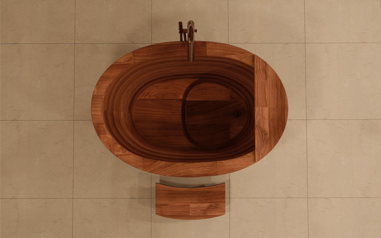 Aquatica TrueOfuro American Walnut Freestanding Wood Bathtub 5 (web)