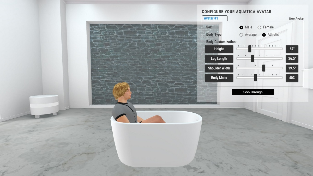 Lullaby Nano Bathtub 3D Body Position