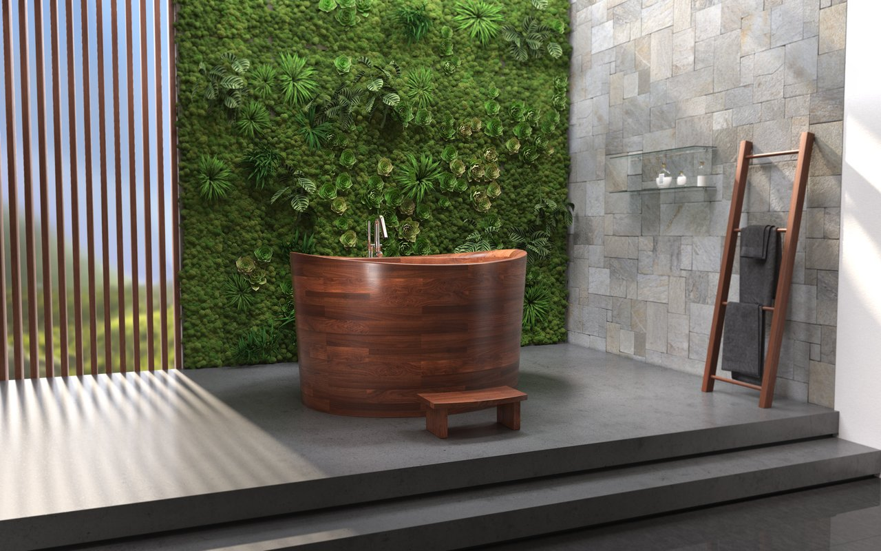 Aquatica True Ofuro Duo Wooden Freestanding Japanese Soaking Bathtub 06 1 (web)