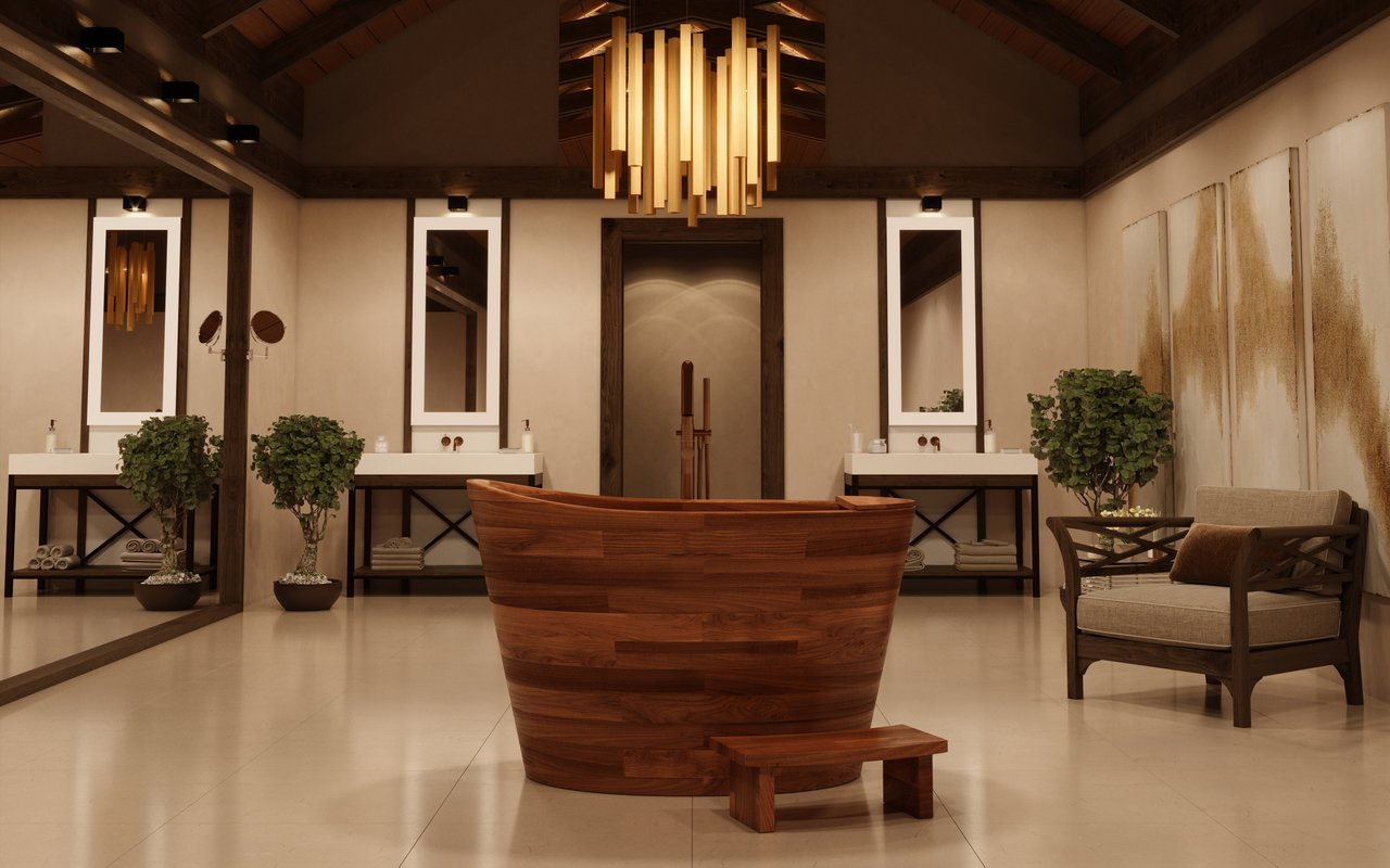 Aquatica TrueOfuro American Walnut Freestanding Wood Bathtub 1 (web)
