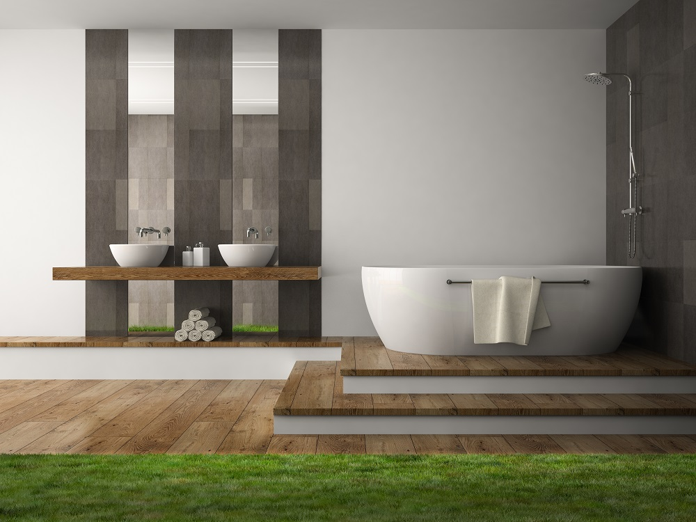 bigstock Interior of bathroom with gra 98903939