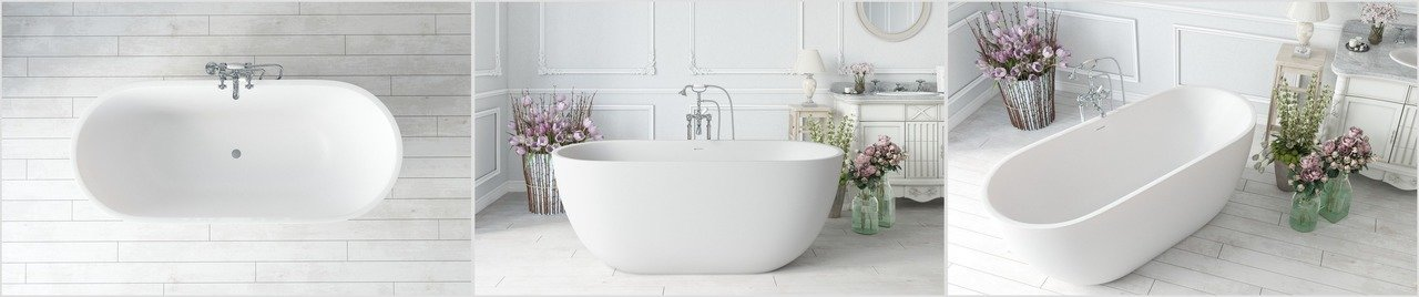 Corelia wht freestanding solid surface bathtub 0qJEm